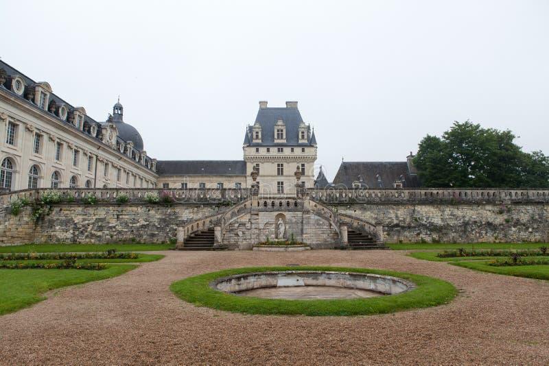 Valencaykasteel in de vallei van de Loire stock fotografie