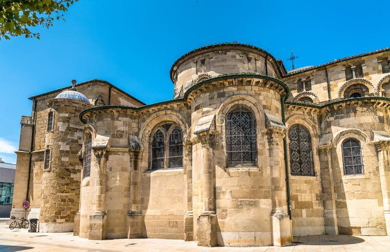 The Valence Cathedral, a Roman Catholic church in France royalty free stock photos