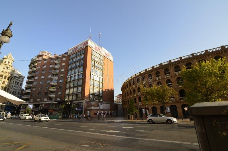 Valence, Espagne - 18 août 2017 : Plaza de Toros De Valence photos libres de droits