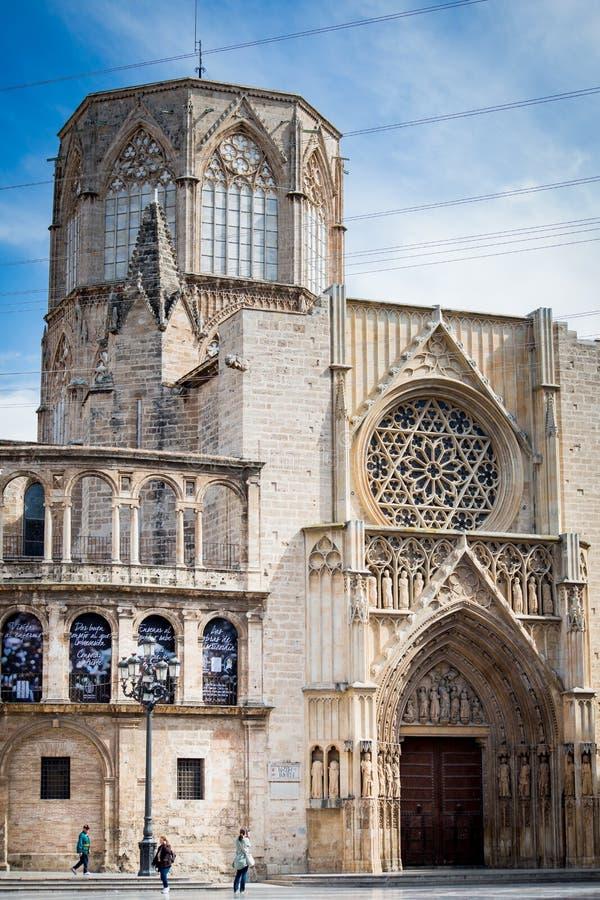 Valence, Espagne - 18 avril 2016 : Cathédrale de Valence image libre de droits