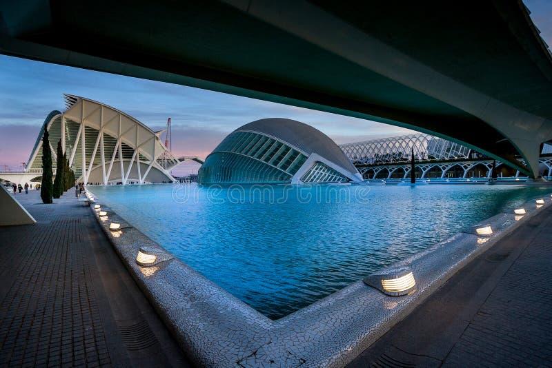 Valence, Espagne, ville des arts et de la Science image libre de droits