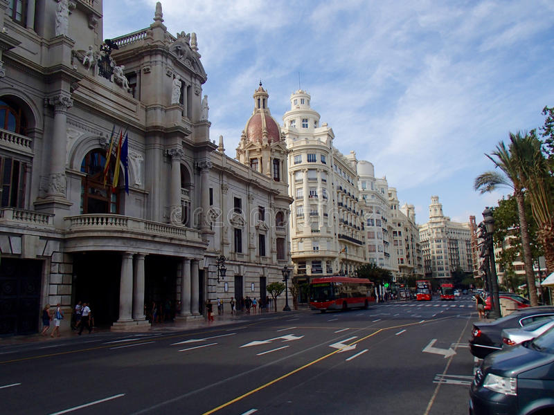 Valencia Avenue royaltyfri bild