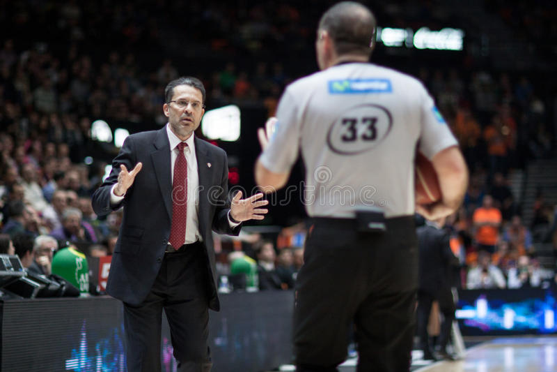 Valencia Basket och Bilbao korg royaltyfri foto
