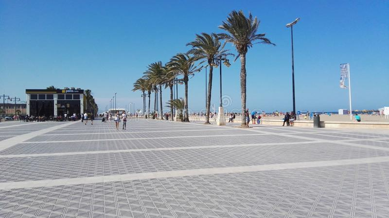 Valencia beach stock photography