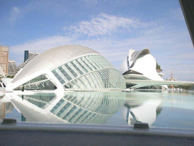 Valencia, Bild von las la Ciudad de Las Artes y ciencias stockfotografie