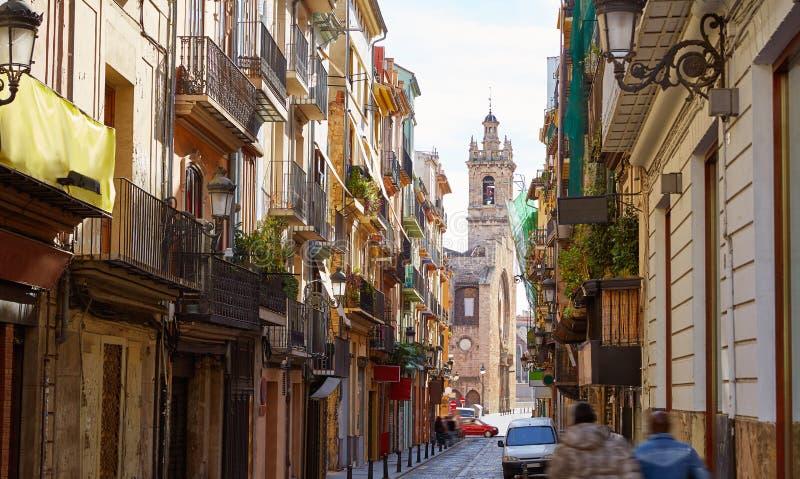 Valencia Bolseria-Straße Barrio del Carmen Spain stockfotografie