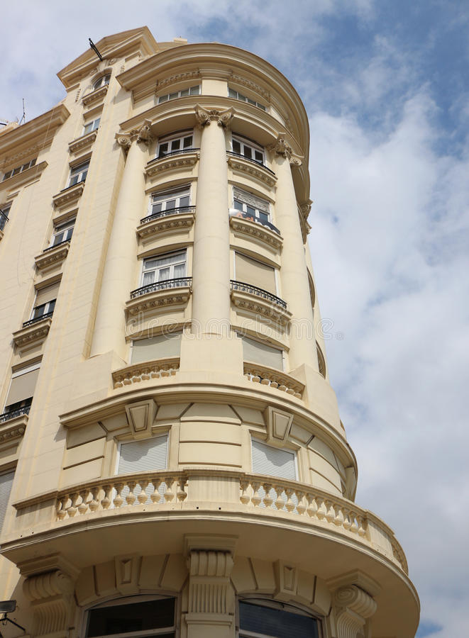 Valencia Carrer de la Sang Building royalty-vrije stock afbeeldingen