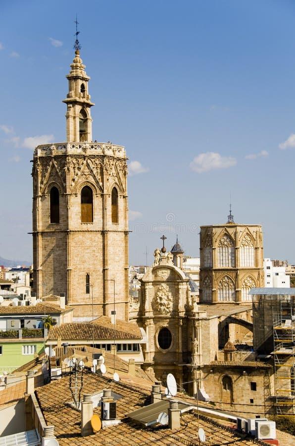 Valencia cathedral royalty free stock photos