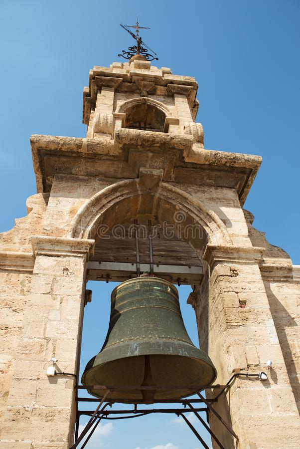 Valencia cathedral bell stock photography
