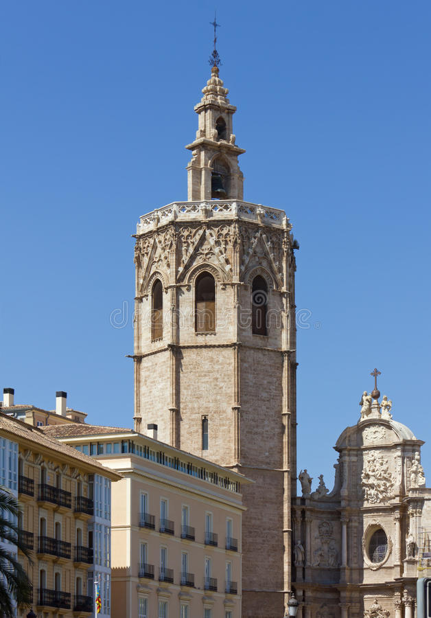 Valencia Cathedral Bell Tower immagine stock