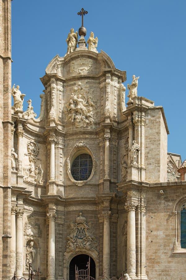 Valencia Cathedral gates stock photos