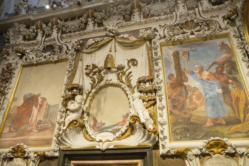 Valencia Cathedral interior stock image