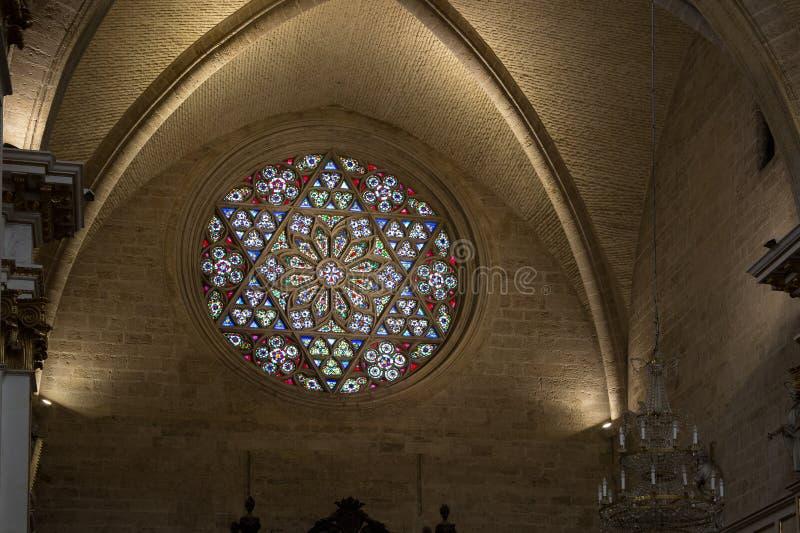 Valencia Cathedral interior royalty free stock image