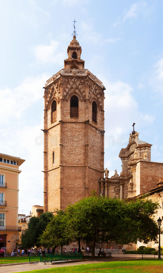Valencia Cathedral and Micalet tower. Valencia, Spain royalty free stock image