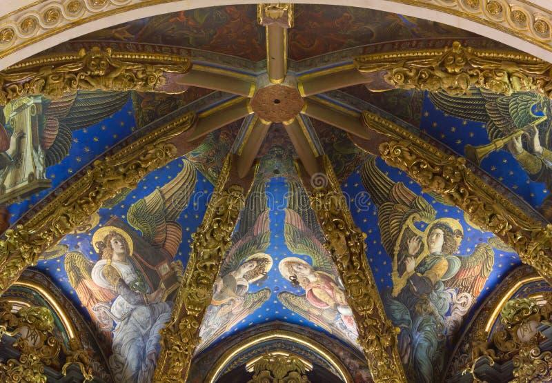 Valencia Cathedral Renaissance Frescoes arkivfoton
