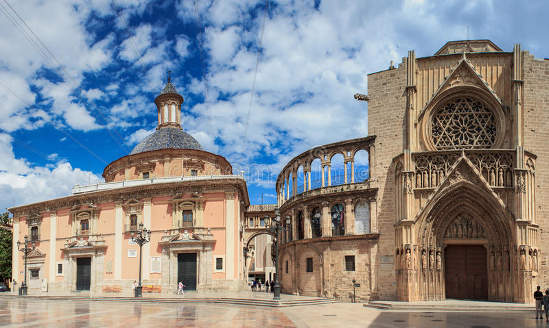 Valencia cathedral royalty free stock photo