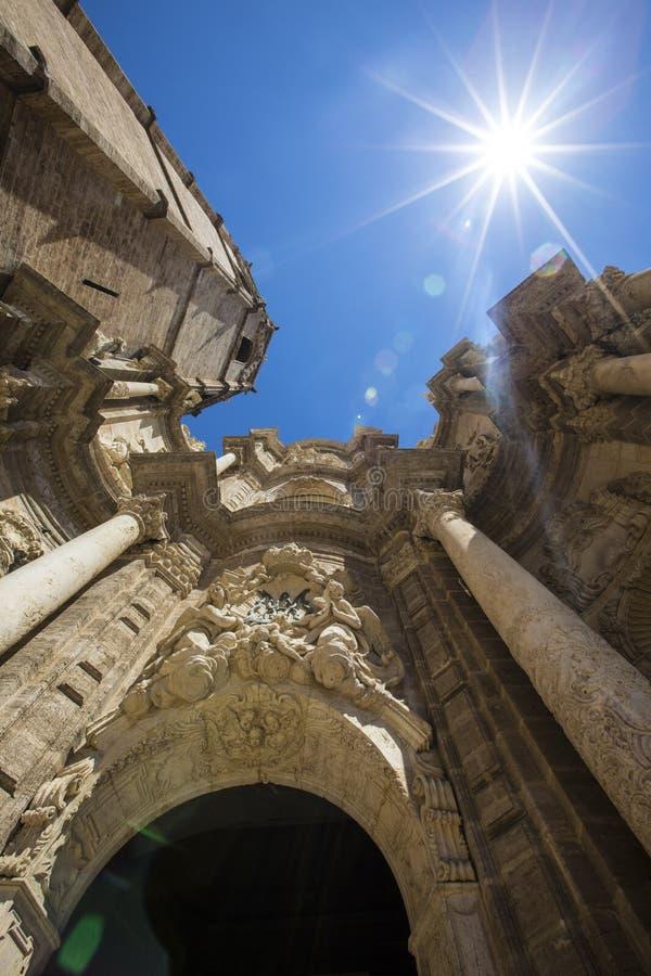 Valencia Cathedral in Spanje stock foto