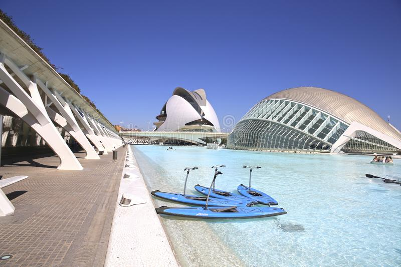 Valencia City Of Arts And Sciences in Valencia stock images
