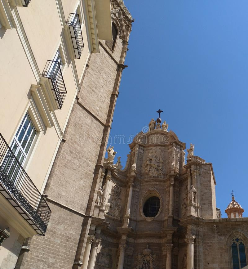 Valencia city Cathedral royalty free stock images