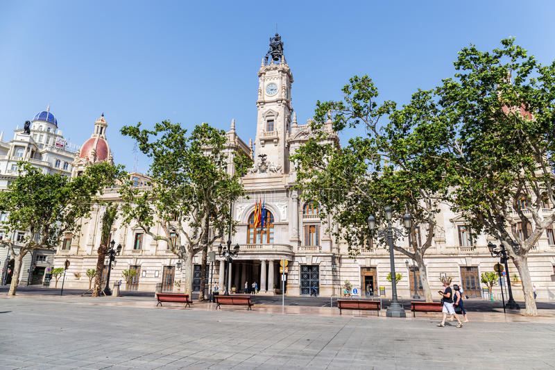 Valencia City Hall royalty free stock photo