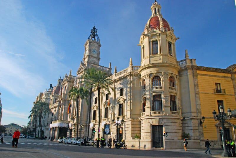 Valencia City Hall Spanien royaltyfri fotografi