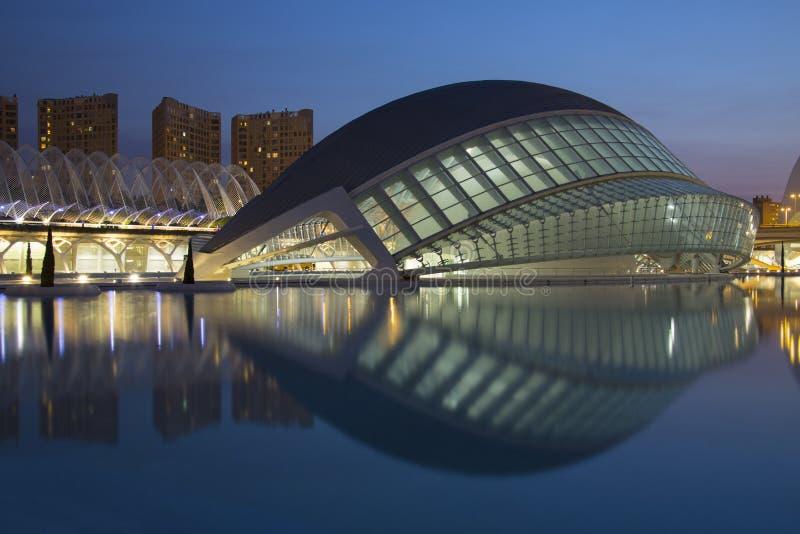 Valencia - ciudad de artes y de ciencias - España fotografía de archivo
