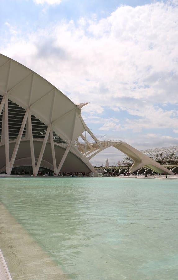 Valencia Ciudad de las Artes y las Ciencias royaltyfria foton