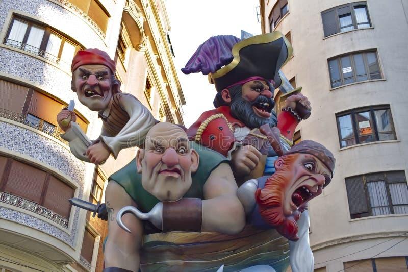 Valencia, festival de Las Fallas Herencia intangible de la humanidad imagen de archivo