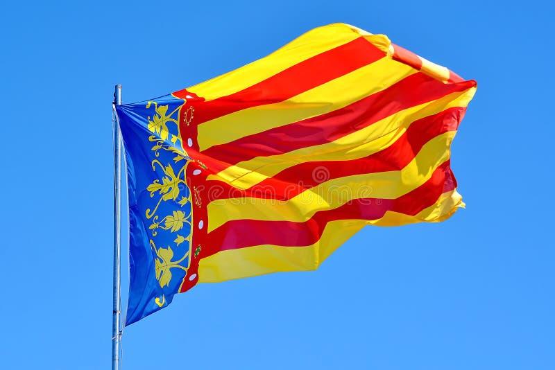 Valencia Flag fotografering för bildbyråer