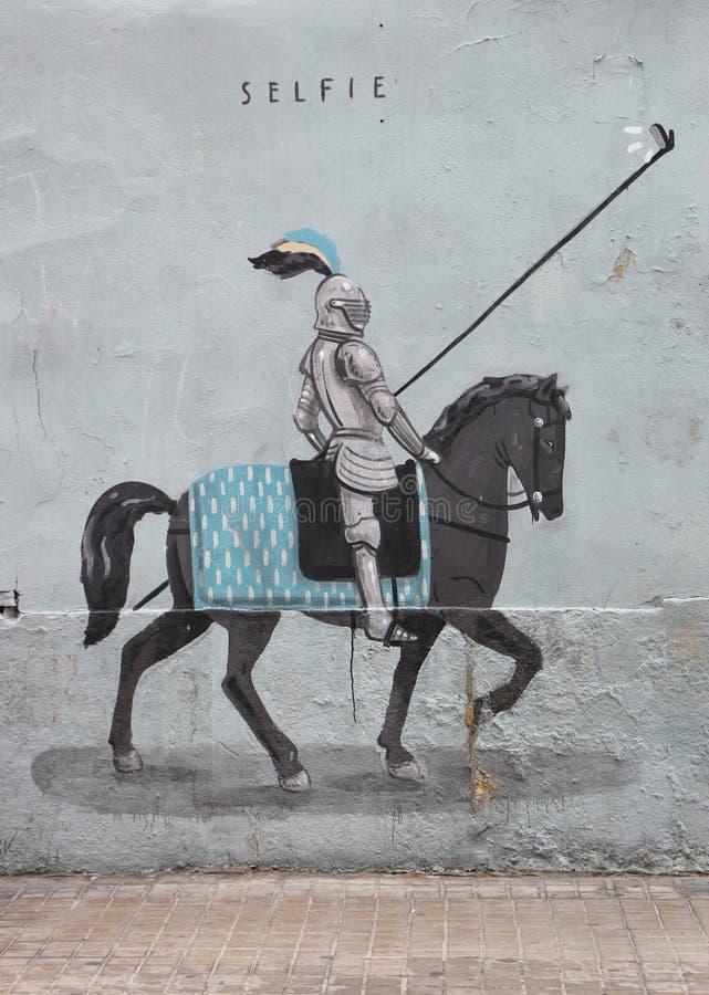 Valencia Graffiti royaltyfria foton