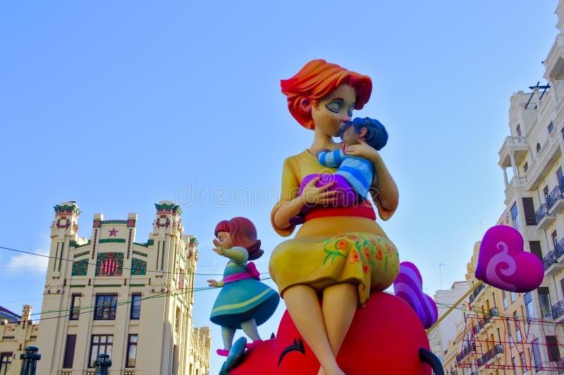 Valencia, Las Fallas festival. Intangible heritage of humanity royalty free stock photo