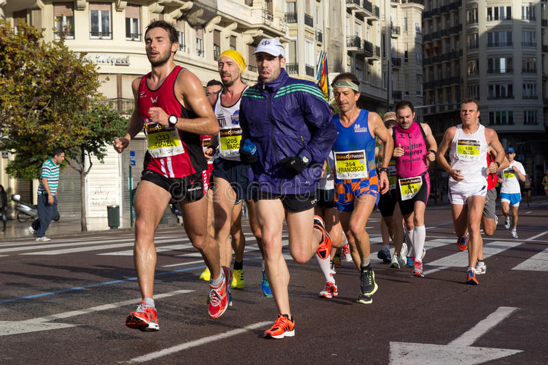 Valencia-Marathon stockfotografie