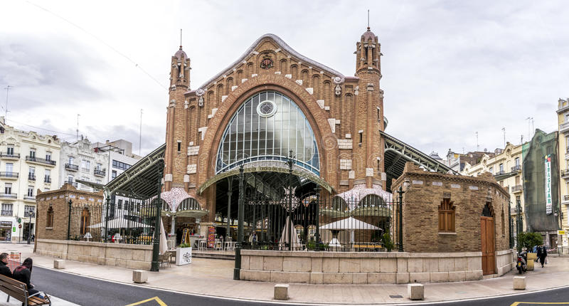 Valencia Market image stock