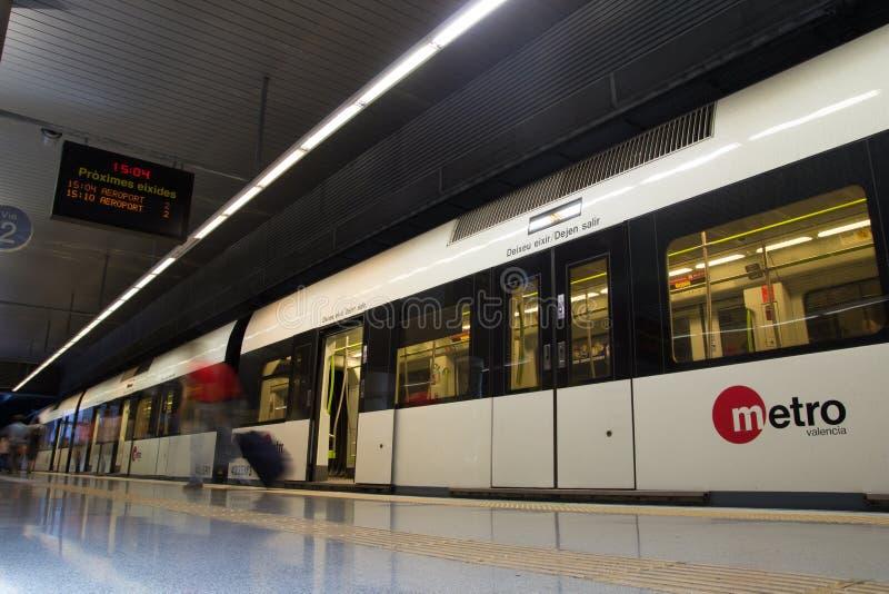 Valencia Metro stockfotografie