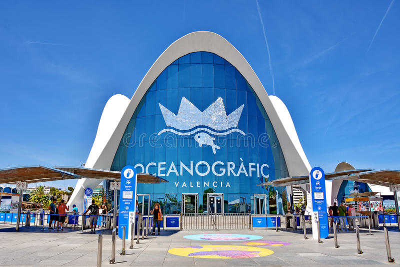 Valencia Oceanographic foto de archivo