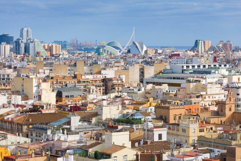Valencia om sommardagen arkivfoto