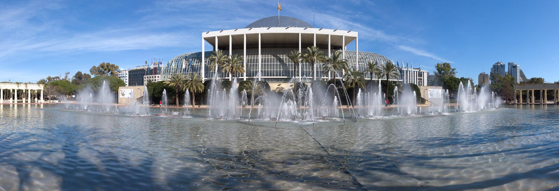 Valencia Palace da sala de concertos da música imagens de stock royalty free