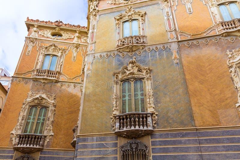 Valencia Palacio Marques de Dos Aguas slott arkivbild