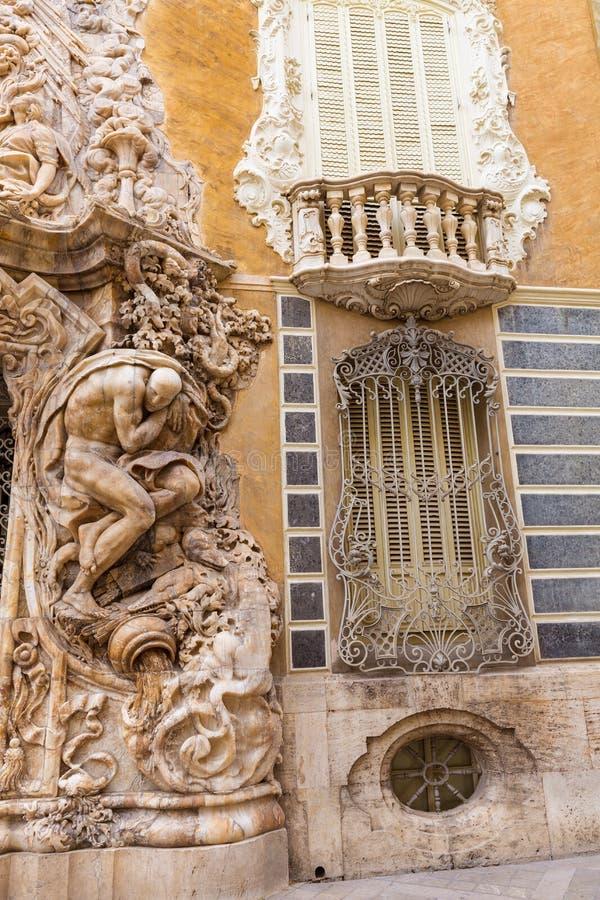 Valencia Palacio Marques de Dos Aguas slott royaltyfri foto
