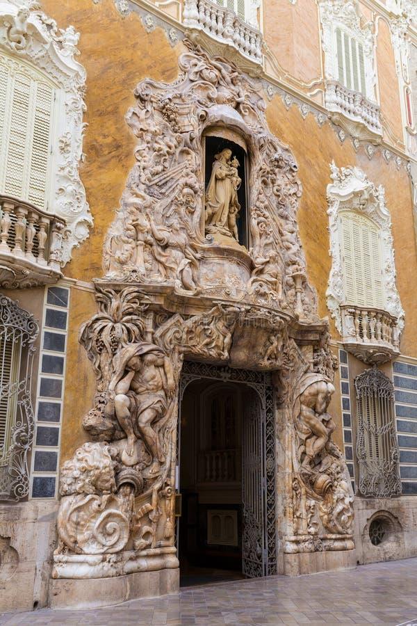 Valencia Palacio Marques de Dos Aguas slott royaltyfria bilder