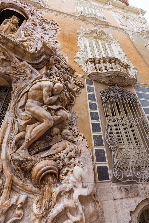 Valencia Palacio Marques de Dos Aguas slott arkivfoto