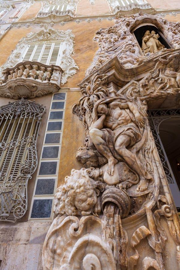 Valencia Palacio Marques de Dos Aguas slott royaltyfri bild