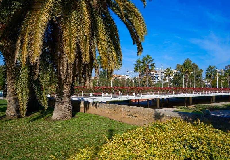 Valencia Puente de Las Flores fiorisce il ponte fotografia stock libera da diritti