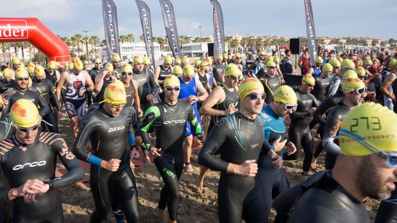 Valencia Santander Triathlon royaltyfri foto