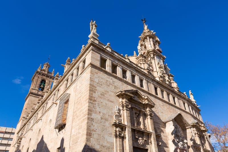 Valencia Santos Juanes-kerkvoorgevel Spanje stock fotografie