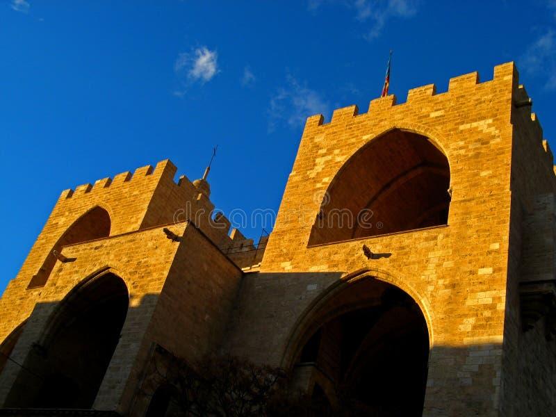 Valencia, Serrano Towers 02 royalty free stock photos