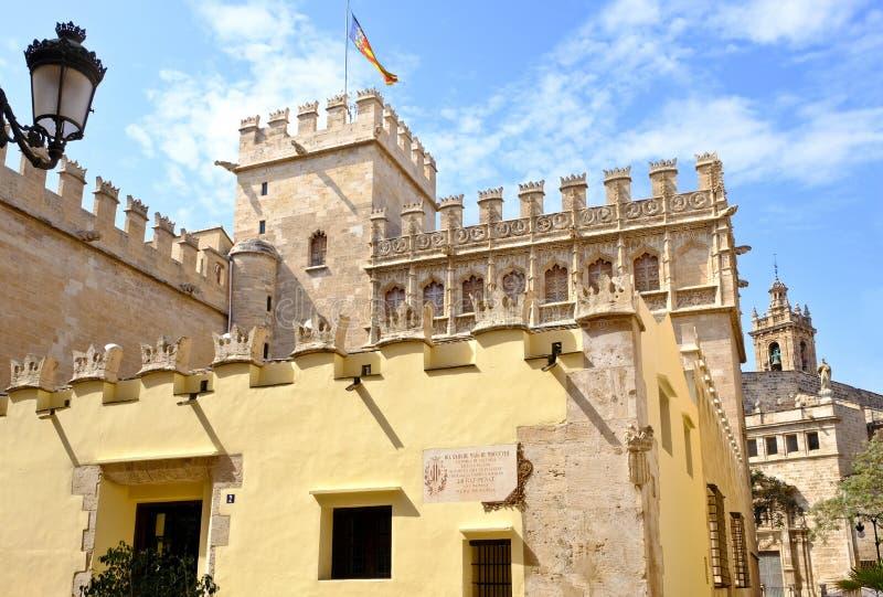 Valencia Silk Exchange, Lonja de la Seda, Espagne photos stock