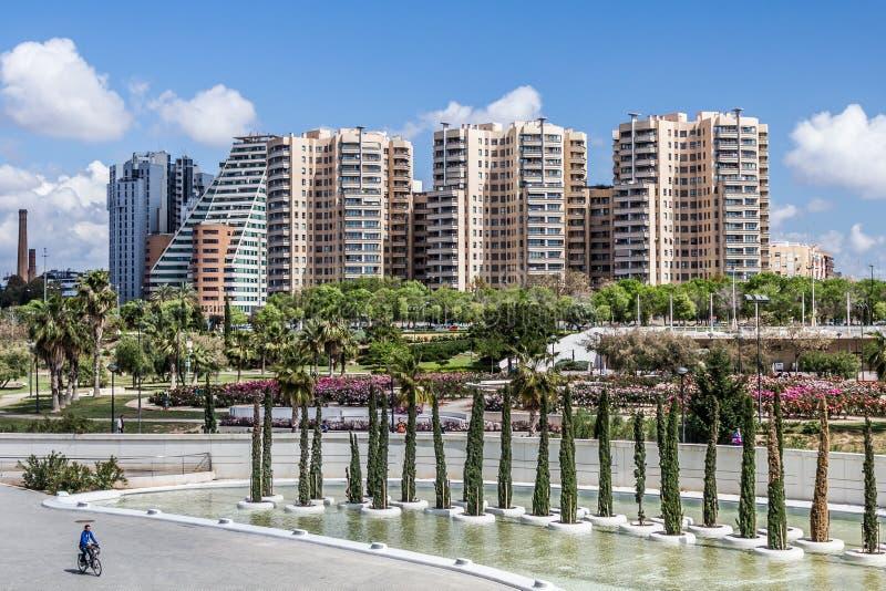Valencia Skyline fotografering för bildbyråer