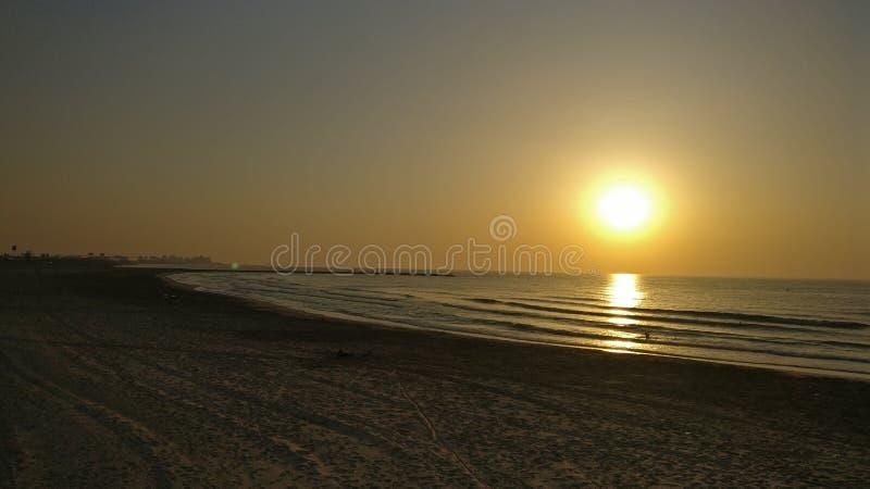 Valencia solnedgång arkivbild