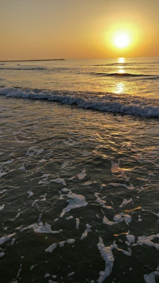 Valencia-Sonnenuntergang lizenzfreies stockbild